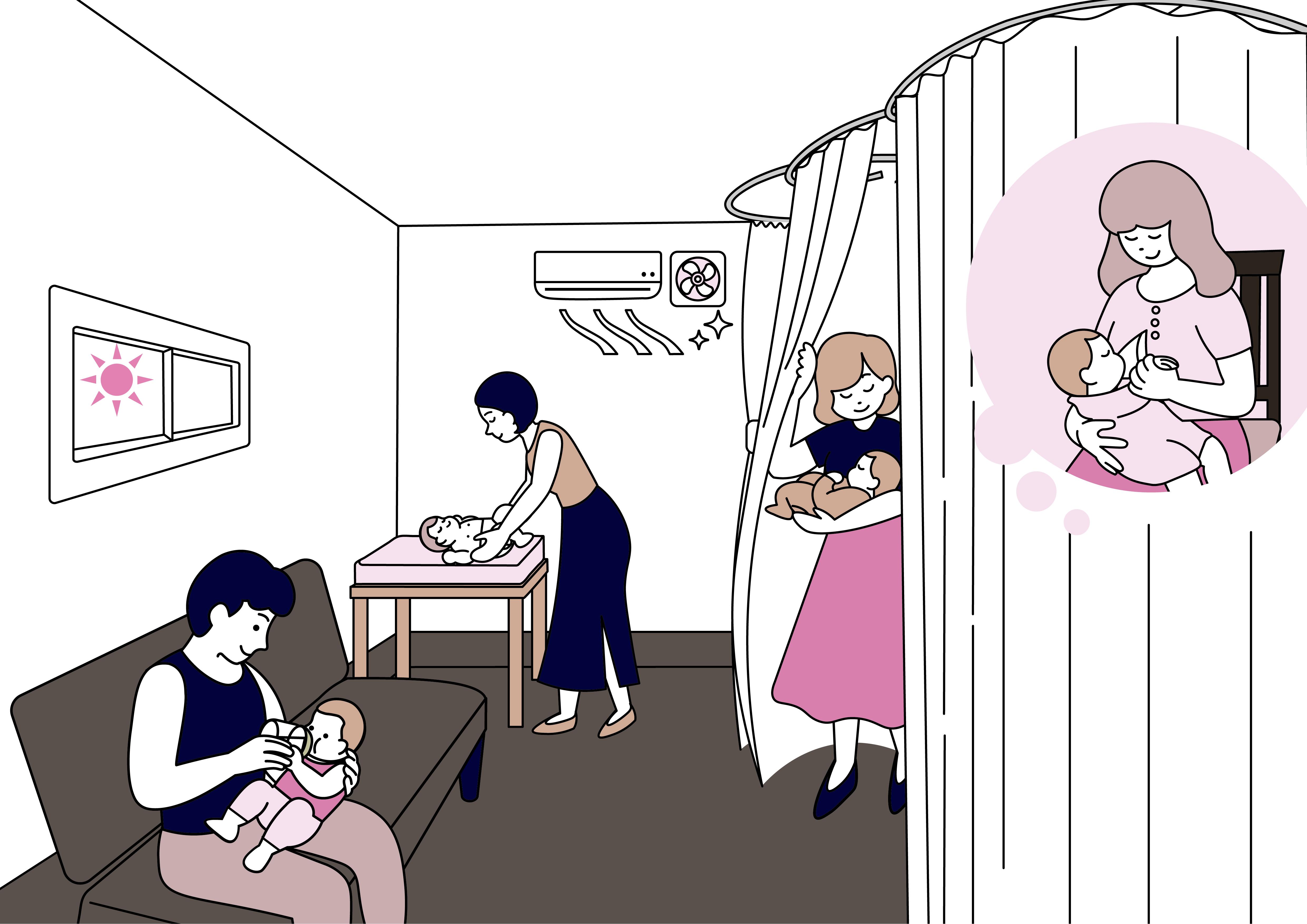 授乳オムツ交換室